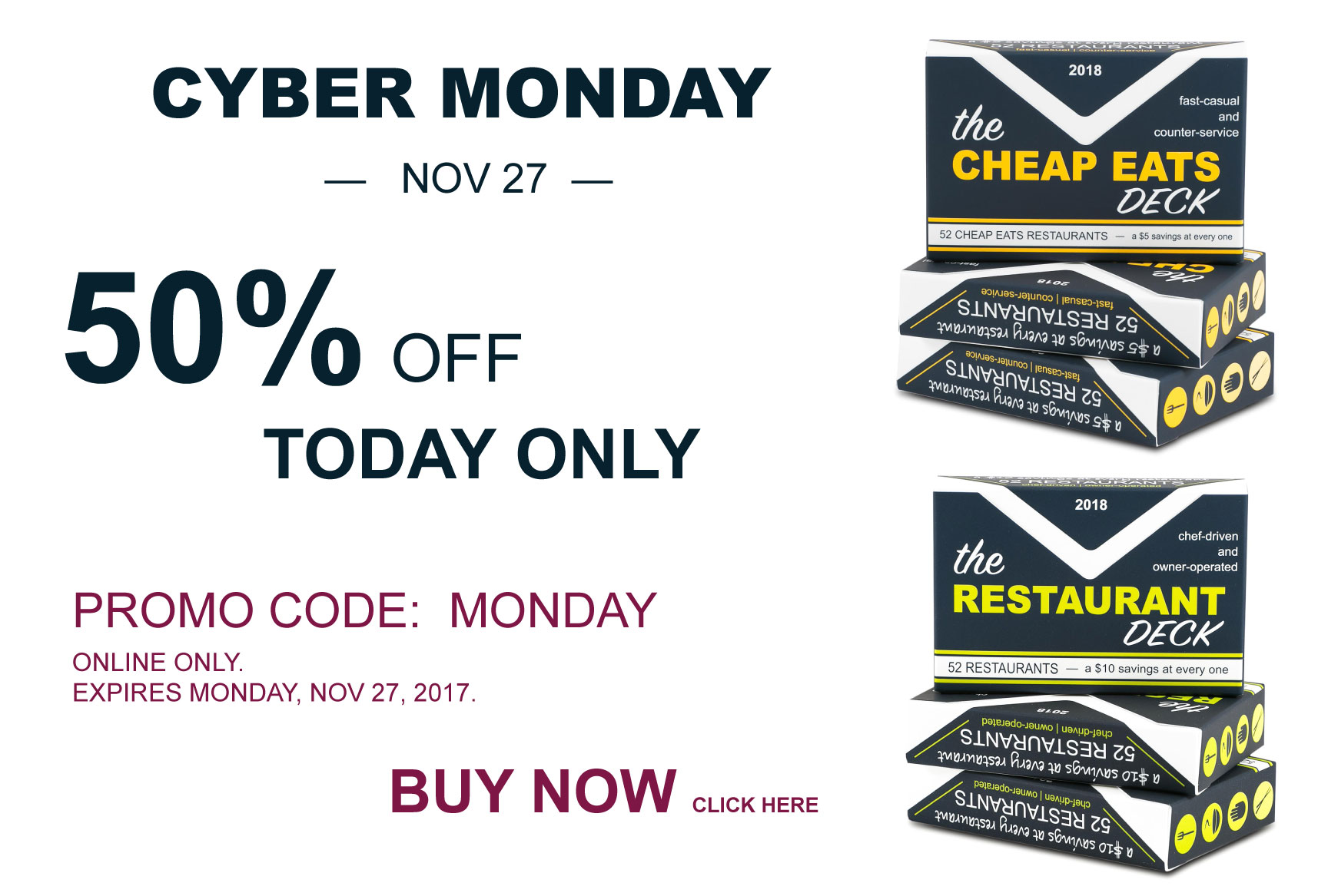 50% off | Cyber Monday